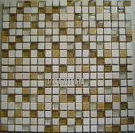 Mixed Material Mosaic - Glass With Stone  Mixed Resin Mosaic